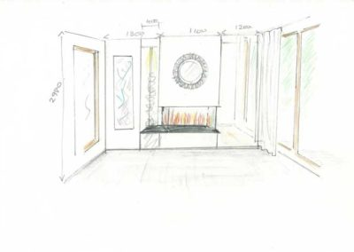 Studio-12-Designs - Connecting spaces - Concept sketch